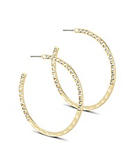 Mood Crystal Encased Gold Hoop Earring