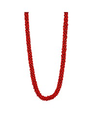 Mood Long Red Bubble Bead Necklace