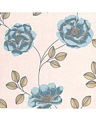 SFC Bohemia Flavia Teal Wallpaper