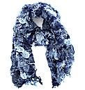 Chenille Effect Banded Scarf