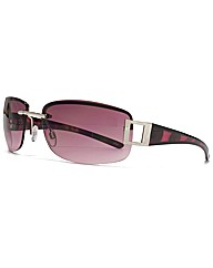 M:UK Suki Rimless Rectangle Sunglasses