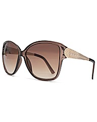 M:UK Anna Metal Temple Square Sunglasses