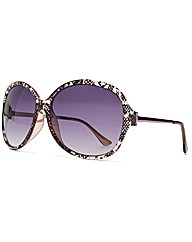 M:UK Faye Snake Print Sunglasses