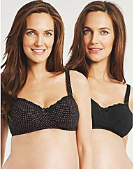 Daisy Dot 2 Pack Nursing Bra
