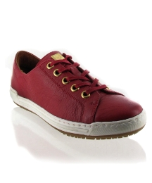 Marta Jonsson Red leather trainer