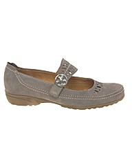 Gabor Candid Wide Fit Nubuck Mary Janes