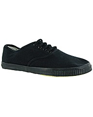Mirak Mono Black Lace Plimsoll