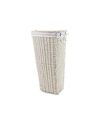 Corner Linen Bin - White