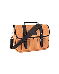 Woodland Leather Canvass Waxy Satchel