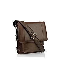 Woodland Leather Upright Messenger Bag