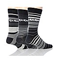 3 Pk Kickers Lyon Stripe Socks