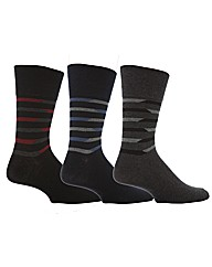 6 Pr Gentle Grip Socks - Chisel