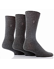 3 Pr Farah Gentle Grip Socks