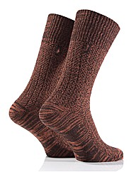 2 Pr Jeep Textured Yarn Socks