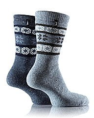 2Pr Jeep Terrain Walking Socks