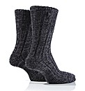 2Pr Jeep Cable Knit Socks