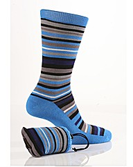 1Pr Sockshop Striped Bamboo Sock In Bag
