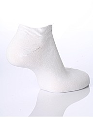 3 Pr Sockshop Plain Bamboo Trainer Socks