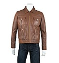 Woodland Short Retro Biker Jacket