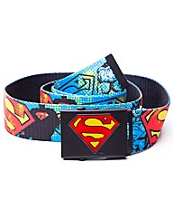 DC Comics Superman Graffiti Canvas Belt