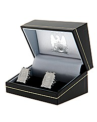 Man City S/Steel  Crest Cufflinks