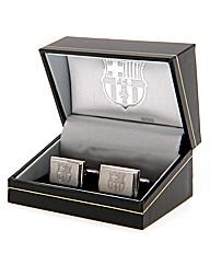 Barcelona S/Steel  Crest Cufflinks