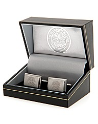 Celtic S/Steel  Crest Cufflinks