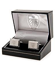Leeds Utd S/Steel  Crest Cufflinks