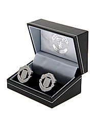 Man Utd S/Steel  Crest Cufflinks