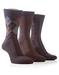 Farah Diamond Jaquard Socks