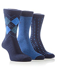 Farah Diamond Jaquard Socks