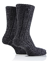 Mens Jeep Cable Knit Socks