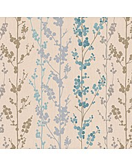 Superfresco Easy Berries Teal Wallpaper