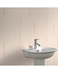 Contour Plaza Beige Wallpaper
