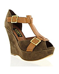 Marta Jonsson tan suede wedge