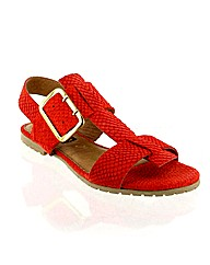 Marta Jonsson orange suede sandal
