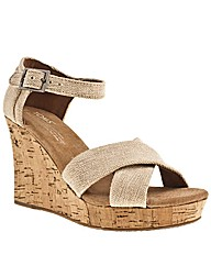 Toms Strappy Wedge Sierra