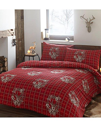 Image of Cozy Nites Garland Stag Flan Duvet Set