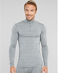 Modal Wool Blend Thermal 1/4 Zip Funnel