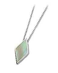 Silver and Cream Mother Of Pearl Pendant