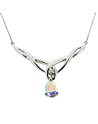 9ct WG Diamond and Mystic Topaz Necklace