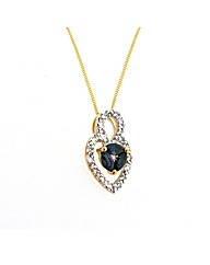 9ct Yellow Gold Stone Set Pendant