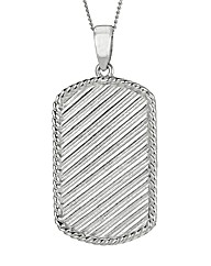Silver Gents Dog Tag with chain