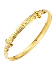9ct Gold Celtic Flower Expander Bangle
