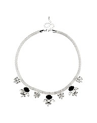 Jon Richard Monochrome Crystal Necklace