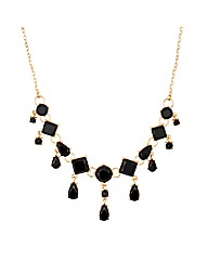 Jon Richard Jet Square Necklace