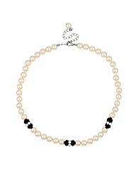 Jon Richard Monochrome Pearl Necklace