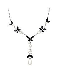 Jon Richard Jet Pearl Y Drop Necklace