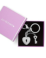 Jon Richard Crystal Lock And Key Keyring