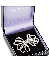Jon Richard Crystal Bow Brooch